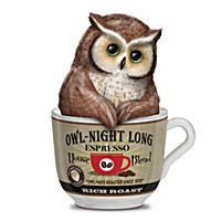 Owl-Night Long Espresso Figurine