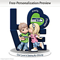 Our Love Is Seahawks Strong Personalized Figurine