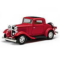 1:43-Scale 1932 Ford 3-Window Coupe Diecast Car