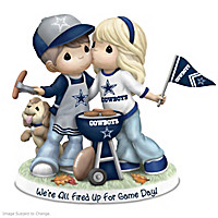 Cowboys We're All Fired Up For Game Day Figurine