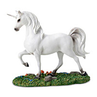 Unicorn White Figurine