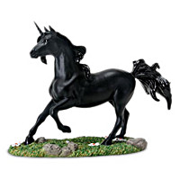 Unicorn Black Figurine