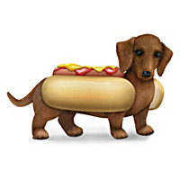 One Hot Dog Dachshund Figurine