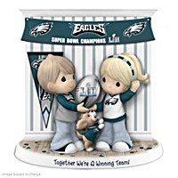 Together We\'re A Winning Team Philadelphia Eagles Figurine