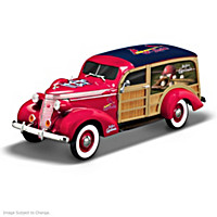 Cruising To Victory Cardinals Woody Wagon Sculpture