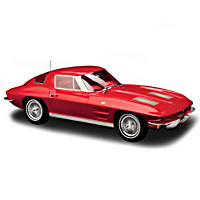 1:12-Scale 1963 Corvette Sting Ray Coupe Sculpture