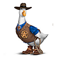 Sheriff Plucky Duck Figurine