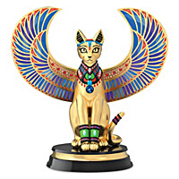 Sparkling Egyptian Feline Of The Nile Sculpture