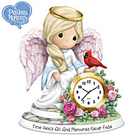 Time Heals All And Memories Never Fade Clock Figurine