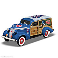 Cruising To Victory Cubs Woody Wagon Sculpture