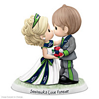 Precious Moments Seahawks Love Forever Figurine