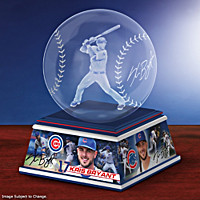 Kris Bryant Laser-Etched Glass Sculpture