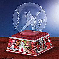 Yadier Molina Laser-Etched Glass Sculpture