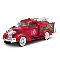 1:25-Scale 1936 Dodge Fire Pumper Diecast Truck Coin Bank
