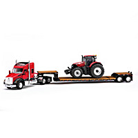 Case IH Kenworth T880 Diecast Semi, Tractor And Trailer Set