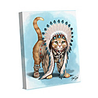 Chief Runs With Paws Canvas Wall Decor