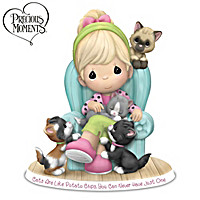 Precious Moments Cats Are Like Potato Chips Figurine