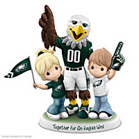 Precious Moments Together For An Eagles Win Figurine