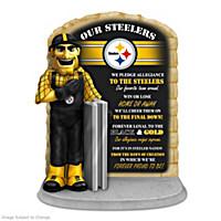 Pittsburgh Steelers Pledge Of Allegiance Sculpture