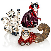 Furr-ightfully Fun Cat Figurine Set