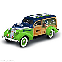 Cruising To Victory Seattle Seahawks Woody Wagon Sculpture