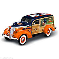 Cruising To Victory Chicago Bears Woody Wagon Sculpture