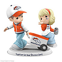 Precious Moments Together We Have Broncos Spirit Figurine