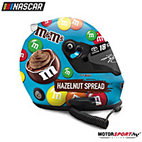 Autographed Kyle Busch M&M\'s Hazelnut 2019 Racing Helmet