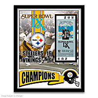 Super Bowl IX Wall Decor