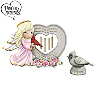 Precious Moments A Love So Dear Wind Chime And Figurine Set
