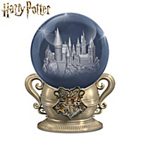 Hogwarts Laser-Etched Glass Sculpture