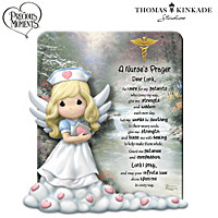 Precious Moments Thomas Kinkade A Nurse's Prayer Sculpture