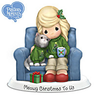 Precious Moments Meowy Christmas To Us Figurine