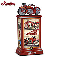 Pride & Precision Indian Motorcycle Tribute Tower Sculpture