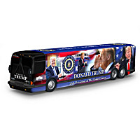 Donald Trump Presidential Tour Bus Sculpture