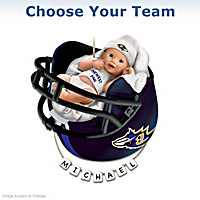 NFL Personalized Baby\'s Christmas Ornament