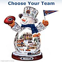 NFL Crystal Snowman Figurine