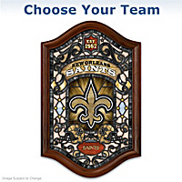 NFL Illuminated Stained-Glass Wall Decor