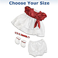Candy Cane Christmas Baby Doll Accessory Set