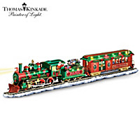 Thomas Kinkade Holiday Homecoming Train Sculpture