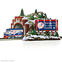 New York Yankees Christmas Mountain Train Accessory
