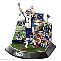 Patriots Super Bowl LI Championship Moments Sculpture