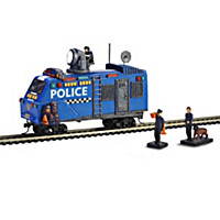Railway Police Armored Train Car And Accessory Set