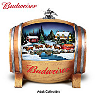 Budweiser Barrelful Of Holiday Joy Sculpture