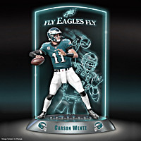 NFL Luminaries: Carson Wentz Sculpture