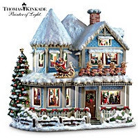 Thomas Kinkade \'Twas The Night Before Christmas Story House