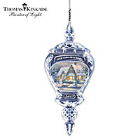 Thomas Kinkade All Is Calm, All Is Bright Ornament