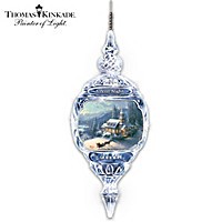 Thomas Kinkade Silent Night Crystal Ornament