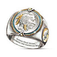 Indian Head Nickel Men\'s Ring