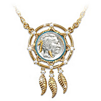 Noble Spirit Buffalo Nickel Dreamcatcher Necklace